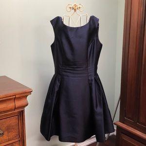 Blue Taffeta Cocktail Dress